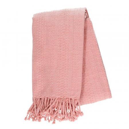 Roze plaid in bio-katoen