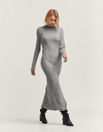 Maxi jurk met rolkraag