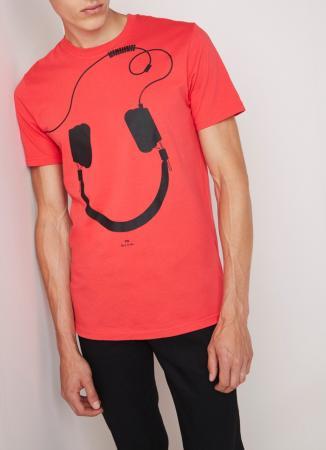 T-shirt hoofdtelefoon/smiley