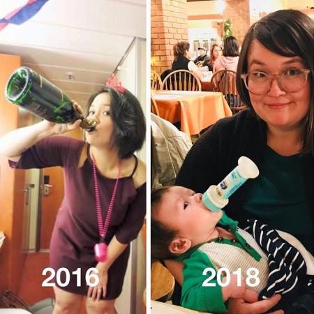 Enkel de baby zit nog aan de fles.