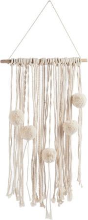 Muurdecoratie met pompons