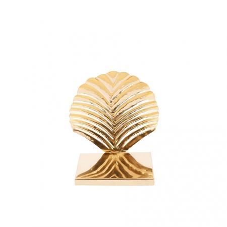 Gouden boekensteun schelp