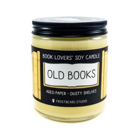 'Oude boeken'-geurkaars