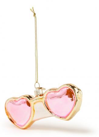 Zonnebril met roze hartjes