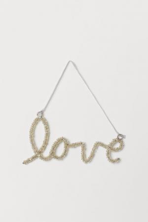 'Love'-hanger in kralen