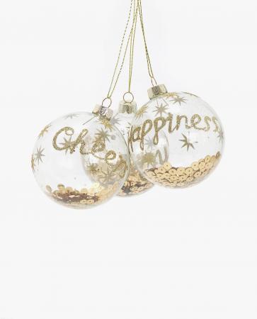 Kerstballen met lovertjes