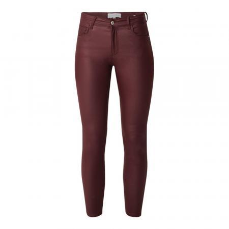 Skinny broek met glanzende coating