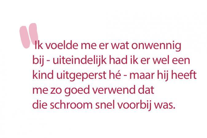 Sofie (30): 'Mijn vriend maakte er een evenement van, exact zes weken na de bevalling, en getimed tussen de voedingen.'