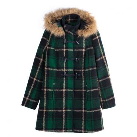 Duffle coat motif tartan