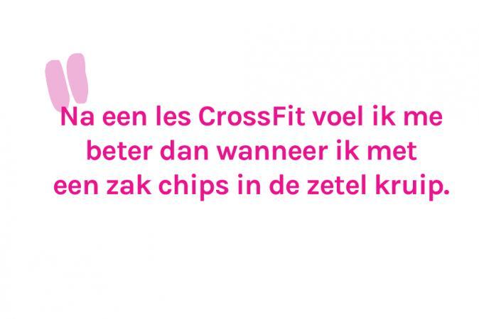 Redactrice Eline (27) sport de stress van zich af tijdens de les CrossFit