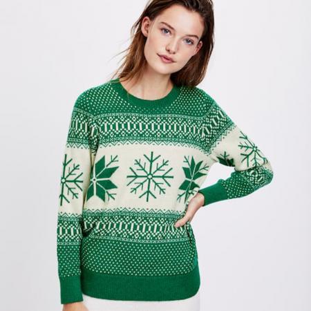 Jacquard trui met sneeuwvlokken