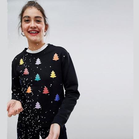 Kleurrijke kerstboompjes