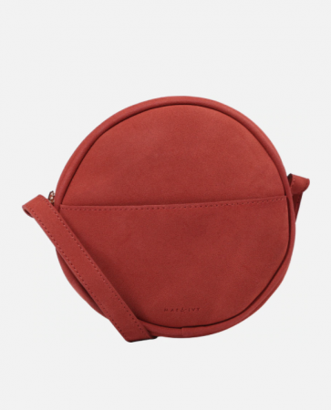 Cirkelvormige crossbody bag in terracotta
