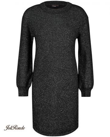 Zwarte jurk met metaaldraad