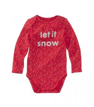 Body en coton bio 'let it snow'