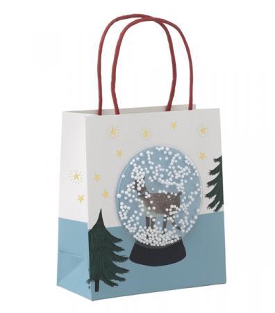 Cadeautas met sneeuwbol