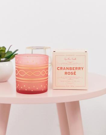 Cranberry rosé-geurkaars