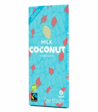 Belgische melkchocolade met kokos (100 g)