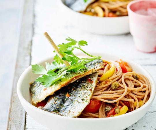 Maandag: pittige pasta met sardines