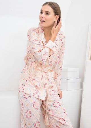 Zijden pyjamahemd