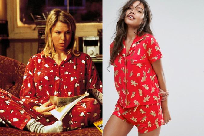 Rode kerstpyjama à la Bridget in 'Bridget Jones' Diary'
