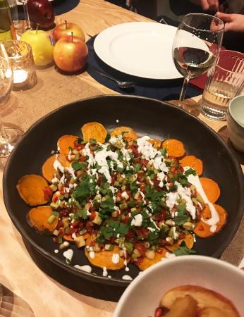 4. Nacho's van zoete aardappel met zure macadamiaroom