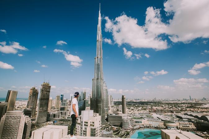 6. Burj Khalifa (Dubai, Verenigde Arabische Emiraten)