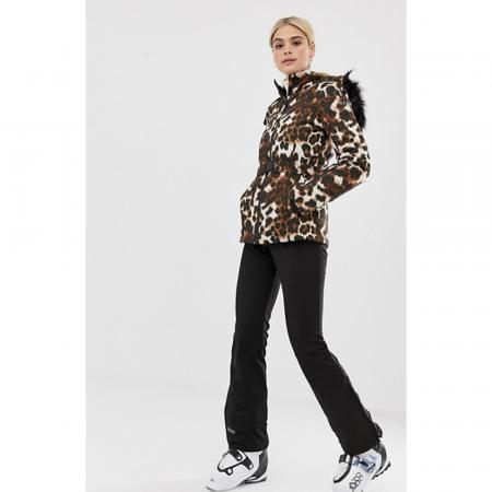 Veste de ski léopard