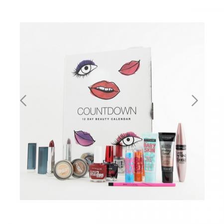 Maybelline Countdown Advent Calendar Christmas giftset