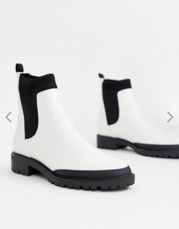 Witte Chelsea boots in suède
