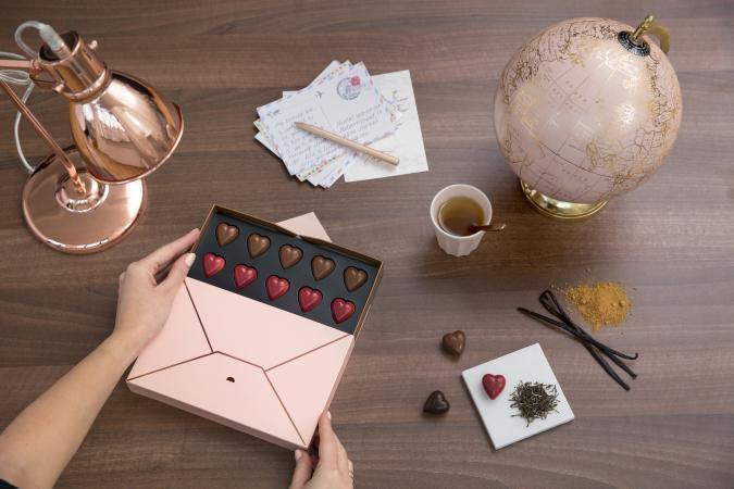 Un coffret de chocolats Neuhaus