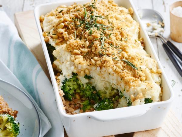 Woensdag: ovenschotel met bloemkool, broccoli en kalfsgehakt