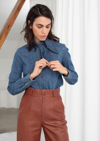 Hemd met strikkraag