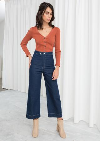 Flared jeans met hoge taille