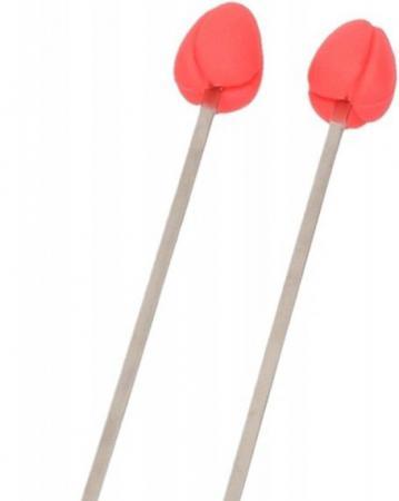 Set van 2 roerstaafjes met roze tulp