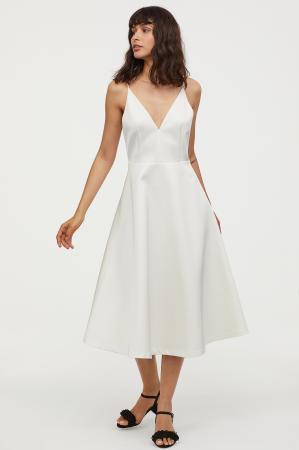 Robe de mariée à encolure en V