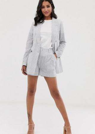 Navy short suit