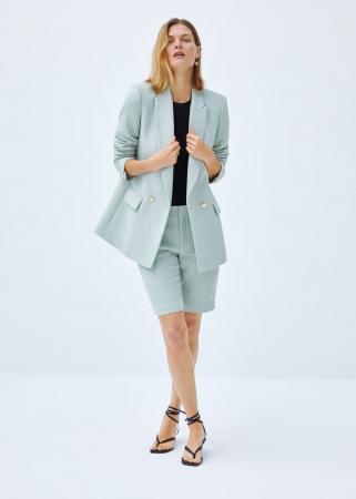 Appelblauwzeegroene short suit