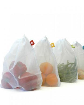 5 sacs réutilisables pour fruits et légumes