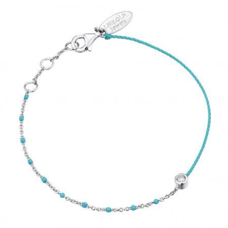 Bracelet turquoise avec détails en argent