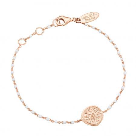 Bracelet élégant avec détails blancs et médaillon étoilé