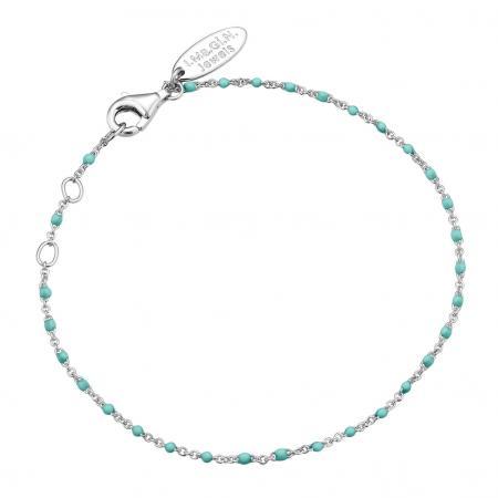 Bracelet turquoise avec détails argentés