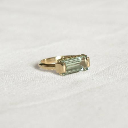 Gouden ring van 18 karaat met aquamarijn