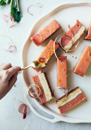 Barres à la rhubarbe et à l'orange