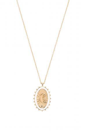 Vergulde halsketting van 14 karaat met medaillon