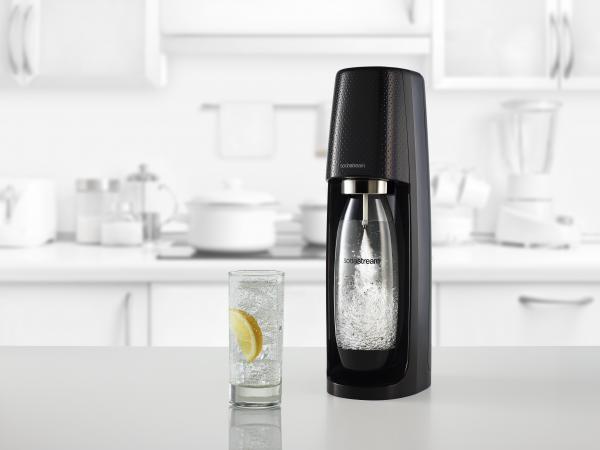 Het Sodastream Spirit-toestel (zwart)