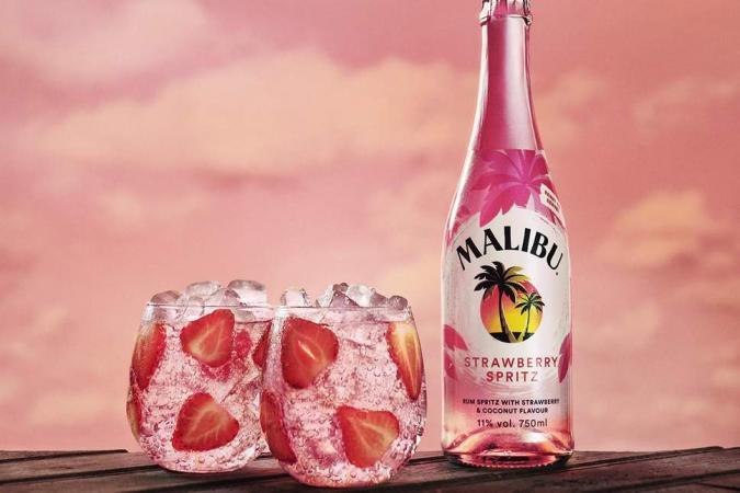 Malibu Strawberry Spritz