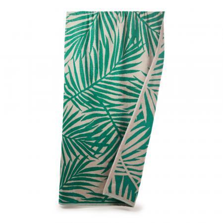 Handdoek met bladeren van palmboom
