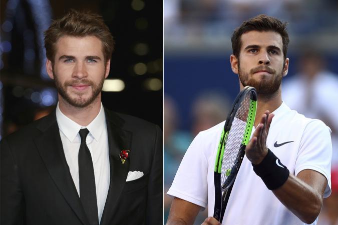 Liam Hemsworth – tennisspeler Karen Khachanov
