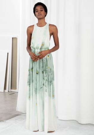 Robe maxi vert d'eau – & Other Stories